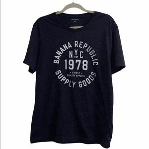 Banana Republic Supply Goods 1078 Blue T-shirt